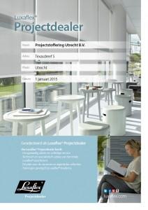 Luxaflex Certificaat Projectdealer_ProjectUtrecht